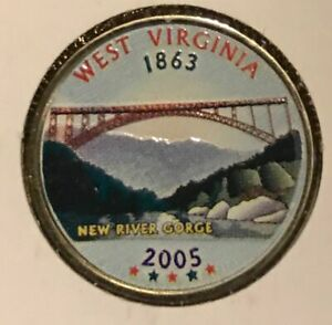 2005 WEST VIRGINIA COLORIZED STATE QUARTER