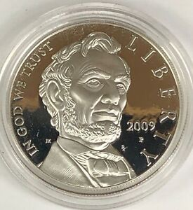 2009 PROOF ABRAHAM LINCOLN SILVER DOLLAR CAP ONLY $4 SHIPS