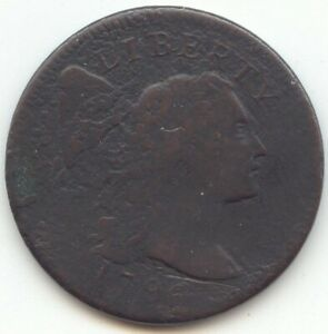 1796 LIBERTY CAP LARGE CENT SHELDON 84 VG DETAILS