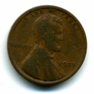 1920 P WHEAT PENNY KEY DATE US CIRCULATED ONE LINCOLN  1 CENT U.S COIN 1562