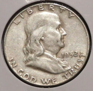 FRANKLIN HALF DOLLAR   1952   OVERSTOCK SALE    $1 UNLIMITED SHIPPING  006