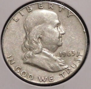 FRANKLIN HALF DOLLAR   1963 D   OVERSTOCK SALE    $1 UNLIMITED SHIPPING  010