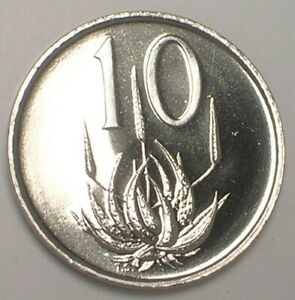 1967 SOUTH AFRICA 10 CENTS ALOE PLANT COIN PROOF