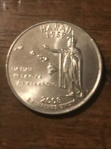 2008 D HAWAII 50 STATES QUARTER  BUY 6 GET 40   OFF  721