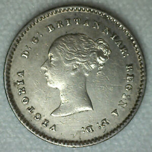 1838 GREAT BRITAIN SILVER 2 PENCE CIRCULATED COIN ALMOST UNCIRCULATED UK 2P AU
