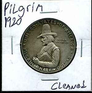 1920 50C PILGRIM COMMEMORATIVE HALF DOLLAR CLEANED 043
