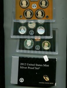 2012 S UNITED STATES 90  SILVER FULL PROOF SET ORIGINAL GOVERNMENT 4209N