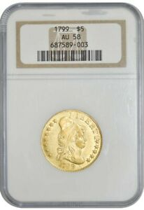 1799 $5 GOLD CAPPED BUST AU58 NGC 942751 7