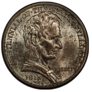 Click now to see the BUY IT NOW Price! 1918 LINCOLN ILLINOIS COMMEMORATIVE HALF DOLLAR  PCGS MS 65