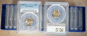 Click now to see the BUY IT NOW Price! TWENTY  20 PIECES  OF 1996 W ROOSEVELT DIMES  PCGS MS 67