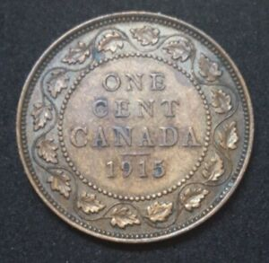1915 CANADA LARGE CENT KM 21 KING GEORGE V