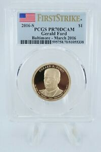2016 S PCGS PR70DCAM GERALD FORD PRESIDENTIAL DOLLAR PROOF $1