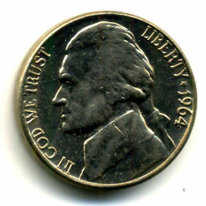 1964 D JEFFERSON NICKEL   US AMERICAN OLD NCIE 5 CENT COINFIVE 3077