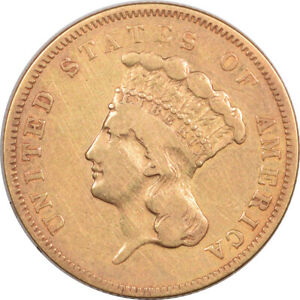 1855 $3 DOLLAR GOLD    PLEASING CIRCULATED EXAMPLE