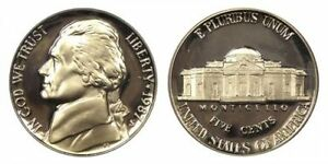1987 S GEM BU PROOF JEFFERSON NICKEL 5 CENT BRILLIANT UNCIRCULATED US COIN PF