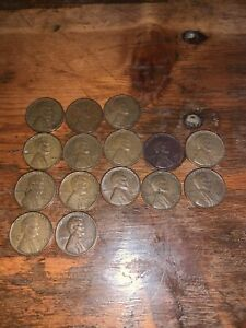 LINCOLN WHEAT CENTS PENNIES FROM 1940 1947