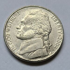 2004 D LEWIS AND CLARK  JEFFERSON NICKEL. XF OR BETTER