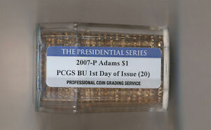 Click now to see the BUY IT NOW Price! 2007 P ADAMS PRESIDENTIAL DOLLAR ROLL OF 20 PCGS BU 1ST DAY OF ISSUE