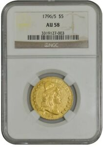 Click now to see the BUY IT NOW Price! 1796/5 $5 GOLD CAPPED BUST AU58 NGC 942751 2