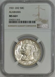 Click now to see the BUY IT NOW Price! 1921 ALABAMA 2X2 50C MS66  NGC 942672 29