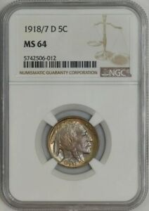 Click now to see the BUY IT NOW Price! 1918/7 D BUFFALO NICKEL 5C MS64 NGC 942110 1