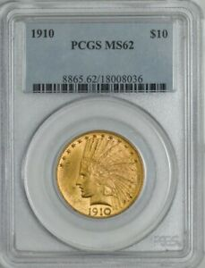 1910 $10 GOLD INDIAN MS62 PCGS 943255 8