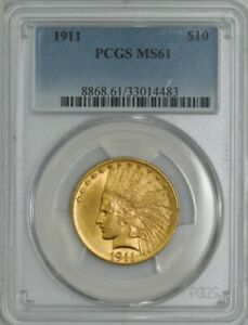 1911 $10 GOLD INDIAN MS61 PCGS 943266 12
