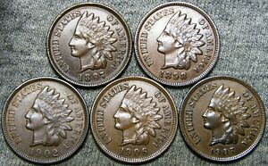 1897 1898 1902 1906 1907 INDIAN CENT PENNY     STUNNING LOT     D428
