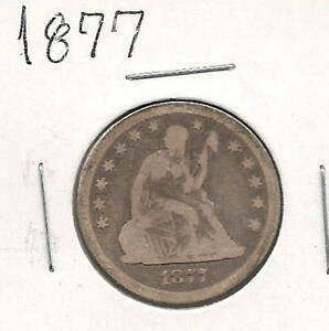 1877 SEATED QUARTER