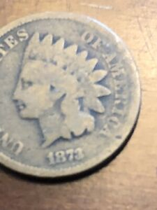 1873 INDIAN HEAD CENT  >> US 1C PENNY COIN