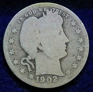 1902 O BARBER LIBERTY HEAD QUARTER US COIN. 211