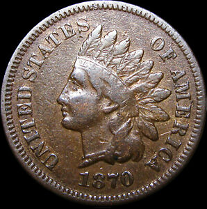 1870 INDIAN CENT PENNY      NICE        D606