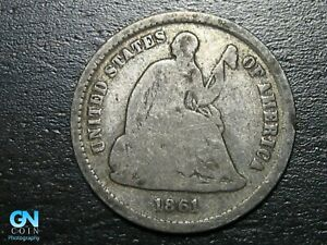 1861 P SEATED HALF DIME     MAKE US AN OFFER   B5293