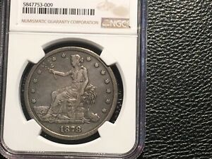 1878 S TRADE DOLLAR NGC XF CLEANED NICE COIN CHEAP
