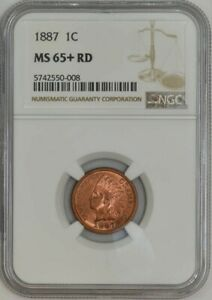 1887 INDIAN CENT 1C MS65  RD NGC 943090 1