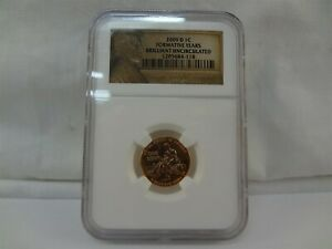 2009 D U.S LINCOLN BRILLIANT UNCIRCULATED FORMATIVE YEARS PENNY COIN NGC 1C