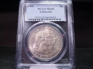 Click now to see the BUY IT NOW Price! 1900 MS65 LAFAYETTE DOLLAR SILVER COMMEMORATIVE PCGS CERTIFIED GEM   WHITE/COLOR