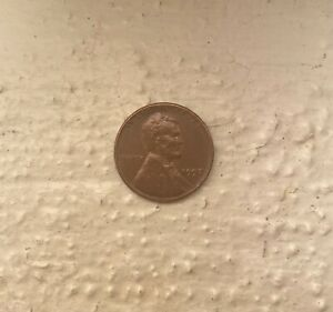 1957 PENNY NO MINT MARK LINCOLN WHEAT PENNY USED GOOD CONDITION