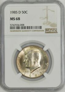 Click now to see the BUY IT NOW Price! 1985 D KENNEDY HALF 50C MS68 NGC 943288 33