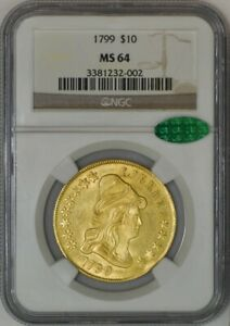1799 $10 GOLD CAPPED BUST MS64 NGC CAC 942751 20