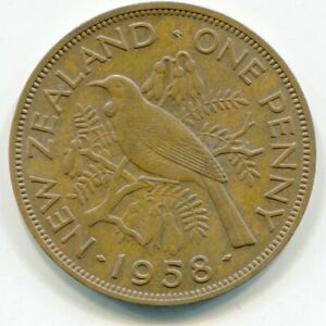 NEW ZEALAND PENNY 1958    LOTOCT8643