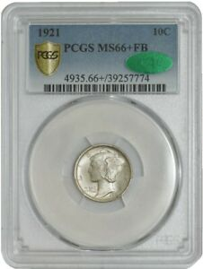 Click now to see the BUY IT NOW Price! 1921 MERCURY DIME 10C MS66  FB SECURE PLUS PCGS   CAC 942338 2