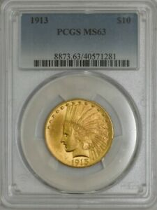 1913 $10 GOLD INDIAN MS63 PCGS 943089 15