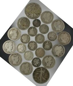 Click now to see the BUY IT NOW Price! MIXED LOT OLD SILVER COINS HALVES QUARTERS DIMES AND 1/2 DIME $4.15 FACE