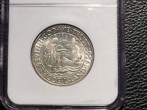 1936 RHODE ISLAND HALF DOLLAR COMM. NGC 66 UNC PRICED TO SELL