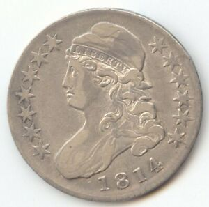 1814 CAPPED BUST HALF DOLLAR LUSTROUS XF DETAILS