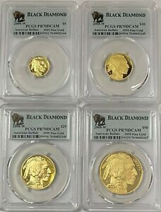 Click now to see the BUY IT NOW Price! 2008W AMERICAN GOLD BUFFALO  4 COIN PROOF SET P.C.G.S.  PR 70  DEEP CAMEO GEM 2