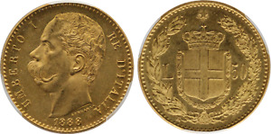 Click now to see the BUY IT NOW Price! 1888 ITALY: UMBERTO I GOLD 50 LIRE PCGS MS63