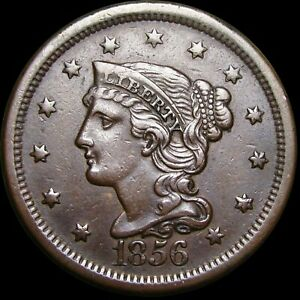 1856 BRAIDED HAIR LARGE CENT PENNY      NICE TYPE COIN      H422