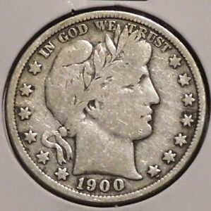 BARBER HALF   1900   HISTORIC SILVER    $1 UNLIMITED SHIPPING